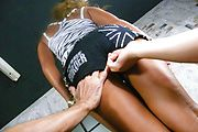 Rumika - Rumika showing off in thong panty and handling two winkies - Picture 7