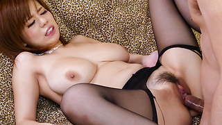 Japanese stockings porn along top Airu Oshima