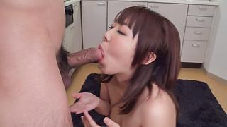 Japanese blowjob video with naughty Yui Sakura