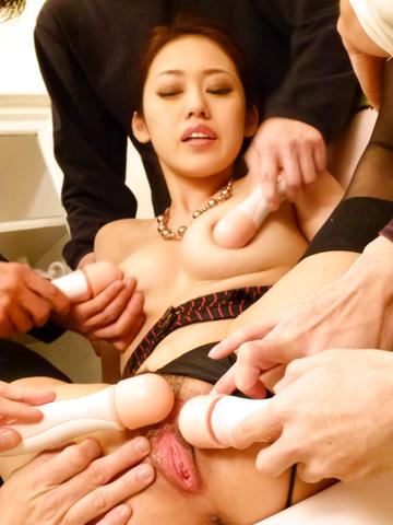 Ann Yabuki - Ann Yabuki gets cumshots after japanese vibrator sex - Picture 8