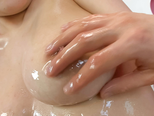 Yuu Haruka - Oiled up busty babe cock sucking and hardcore fucked - Picture 3