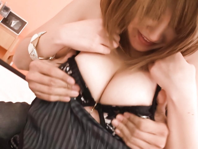 Rika Aina − Hot and big tit Asian babe in lingerie getting naked and hardcore fucking − Picture 8