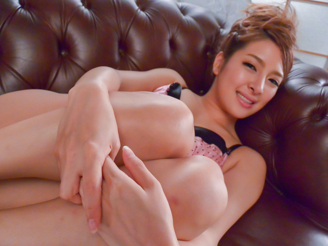 Nana Ninomiya - Strong Asian masturbation along hot Nana Ninomiya  - Picture 1