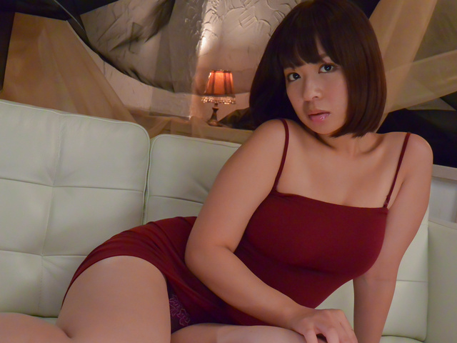 Mei haruka enjoys two men for a wild threesome fuck 8