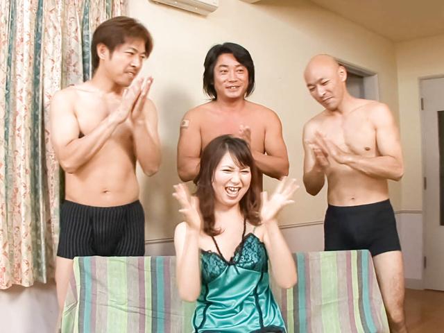 Naho Kojima - japan girls blowjob With Naho Kojima In A Gangbang - Picture 1