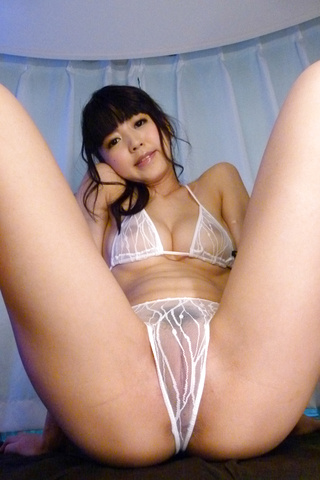 Riisa Minami - Sweetie enjoys asian cum splashing her face  - Picture 1