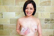 Minami Asano - Minami Asano plays with her pussy in the shower  - Picture 4