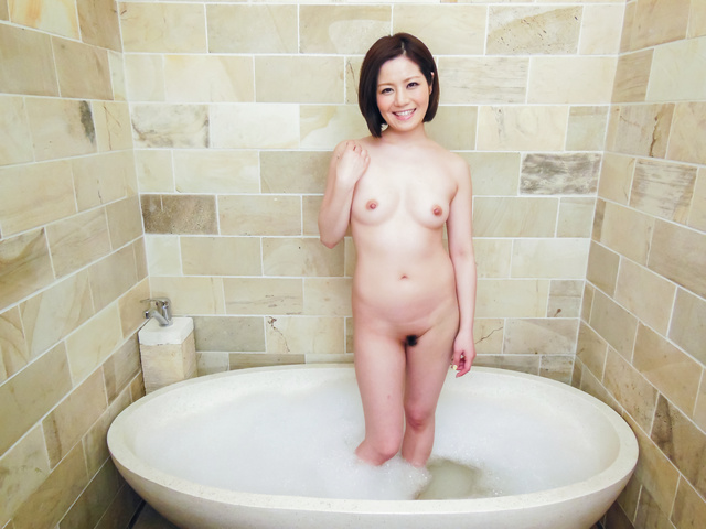 Minami Asano - Minami Asano plays with her pussy in the shower  - Picture 1