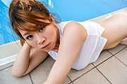 Suzuna Komiya - Japanese blowjob by the pool with Suzuna Komiya  - Picture 10
