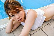 Suzuna Komiya - Japanese blowjob by the pool with Suzuna Komiya  - Picture 11