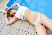 Suzuna Komiya - Japanese blowjob by the pool with Suzuna Komiya  - Picture 8