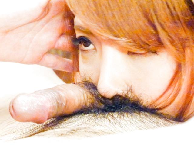 Chieri Matsunaga - Asian blow job in POV with sexyChieri Matsunaga - Picture 12
