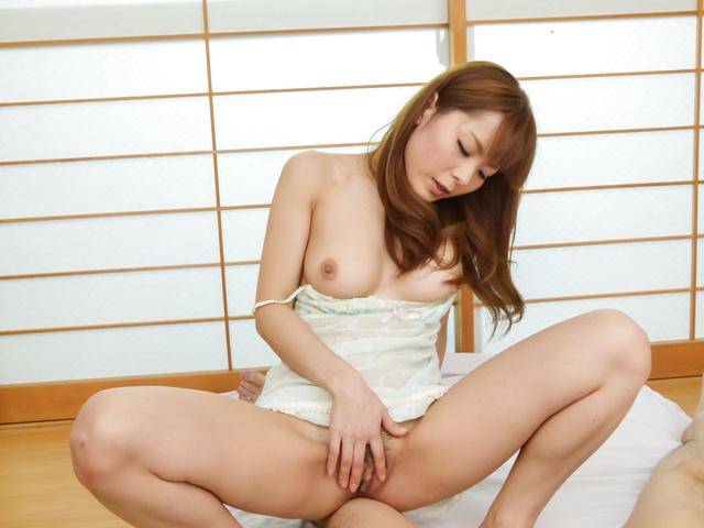 Anri Sonozaki - Anri Sonozaki amazes with full japanese blowjob - Picture 5