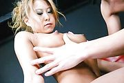Yuno Shirasu - Hairy  Yuno Shirasu in naughty asian blowjob group session - Picture 3