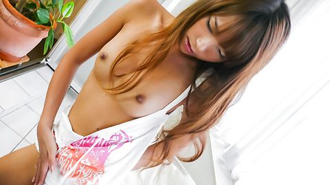 Teen Misaki Tanemura has an asian blowjob to give two guys