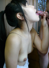Koyuki Ono Asian with juicy boobies licks and sucks dong so fine