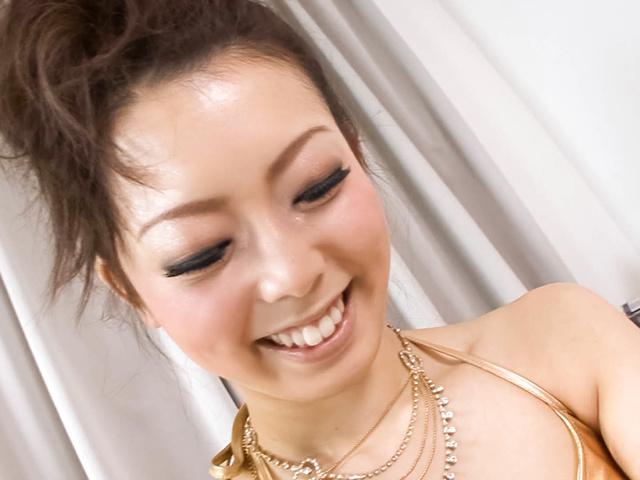 Yuki Asami - Naughty Yuki Asami with hot ass up licks dildo - Picture 10