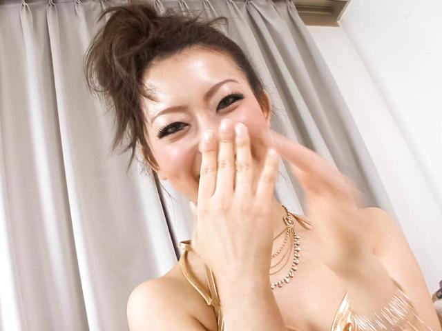 Yuki Asami - Naughty Yuki Asami with hot ass up licks dildo - Picture 12