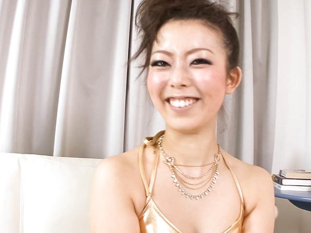 Yuki Asami - Naughty Yuki Asami with hot ass up licks dildo - Picture 5