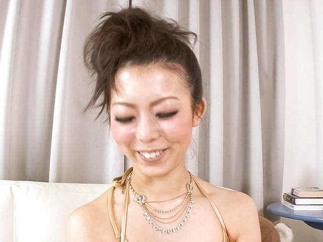 Yuki Asami - Naughty Yuki Asami with hot ass up licks dildo - Picture 6