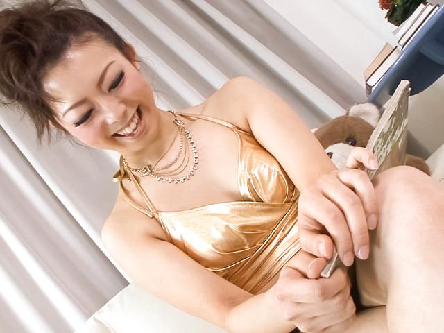 Yuki Asami - Naughty Yuki Asami with hot ass up licks dildo - Picture 8