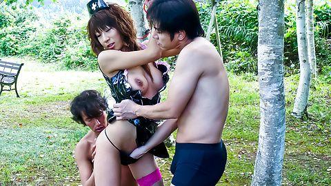 Asuka Ishihara is fucked and sucks tool