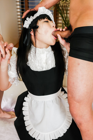 Yui Ayase - 日本口交与亚洲女佣 Yui 绫濑 - 图片 3