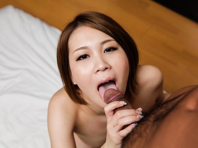 Mao Mizusawa - 顶级日本口交与傲慢毛水泽 - 图片 7