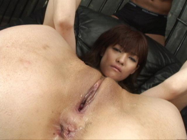 Megumi Morita - Her legs spread, Megumi Moritas holes get cum covered - Picture 1