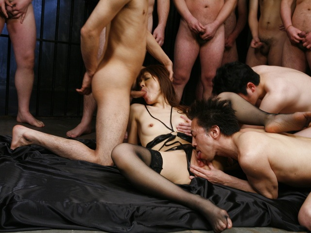 Mao Saito - Mao Saito gangbang by plenty ends up covered with cum - Picture 7