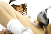 Ren Ito - Ren in golfing scenery ends up with dick up her cunt - Picture 9
