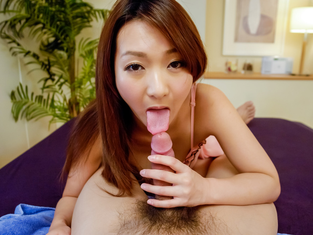 Hot marin koyanagi loves playing with cock