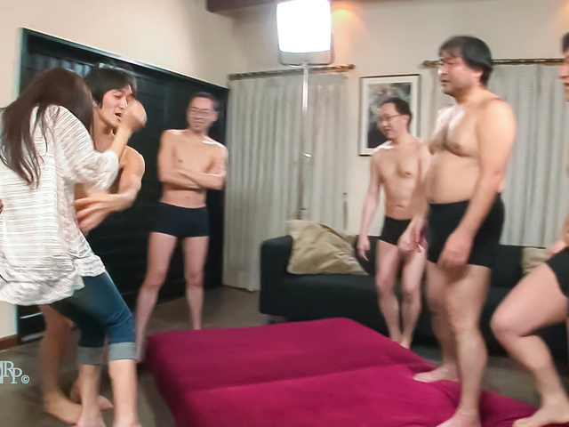 Aoi Miyama - Hottie gets fucked by sveeral guys in xxx Japan show - Picture 9