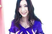 Kotone Amamiya - Asian creampie ends babe's filthy threesome - Picture 1