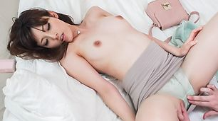 Kanako Iioka giving hot japanese blowjob