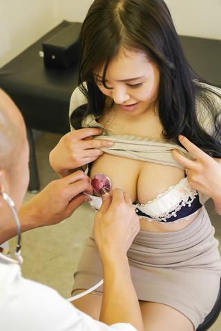 Miu Watanabe - Harsh Japanese blowjob during gyno control for Miu Watanabe - Picture 2