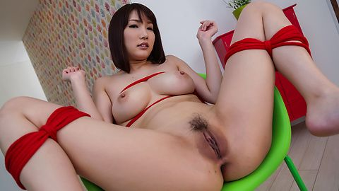 Warm Asian blowjob by busty Japanese Mikuni Maisaki