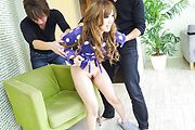 Rino Sakuragi - Asian double dildo fuck with Rino Sakuragi  - Picture 3