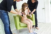 Rino Sakuragi - Asian double dildo fuck with Rino Sakuragi  - Picture 4
