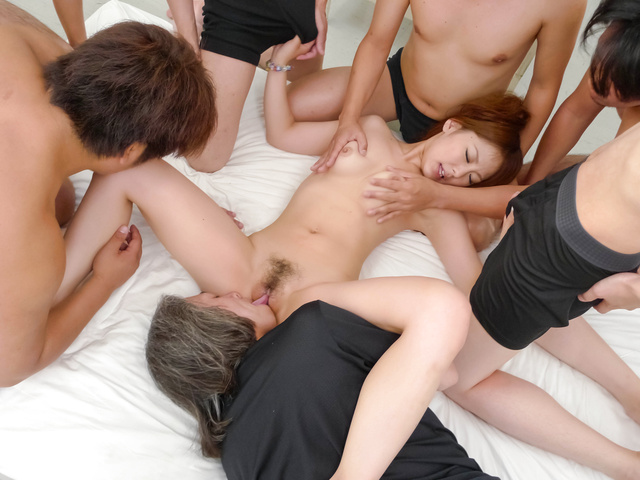 Miku Airi - A Creamed Pussy Is Miku Airi's Reward In Group Sex - Picture 7