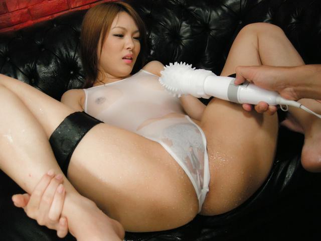 Rei - 日本美女名叫 Rei 钉和奶油在她的屁股 - 图片 8