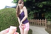 Reira Aisaki - Reira Aisaki naughty play on her young Asian pussy  - Picture 8