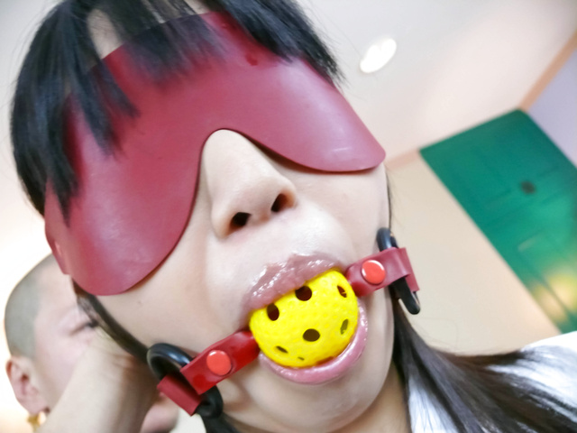 Kotomi Asakura - Kotomi Asakura in fishnets gets fucked roughly  - Picture 2