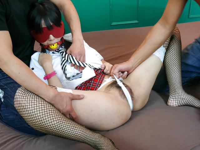 Kotomi Asakura - Kotomi Asakura in fishnets gets fucked roughly  - Picture 6