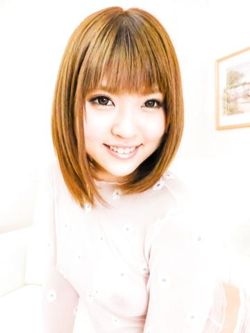 Yuri Hyuga - Yuri Hyugauses Japanese dildo over her holes - Picture 1