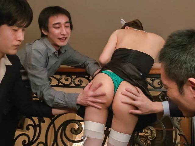 Maki Horiguchi - Double Asian blowjob by slimMaki Horiguchi - Picture 6