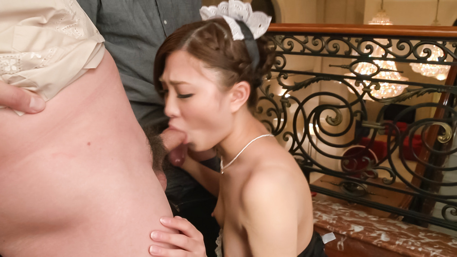 Phim Sex Double Asian blowjob by slim Maki Horiguchi