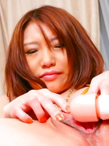 Aoi Yuuki - Aoi Yuuki is squirting hard from a japanese dildo - Picture 12