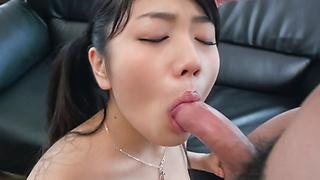 Misaki Oosawa cock sucking Asian girl in action