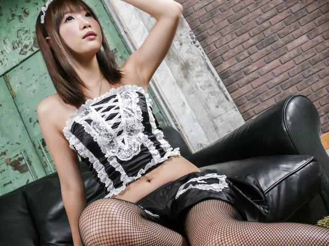 Momoka Rin - Momoka Rin dresses up like a maid for a japanese fuck - Picture 2